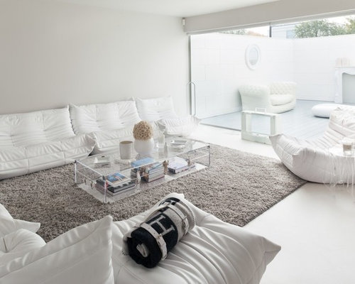 White Living Room  Houzz
