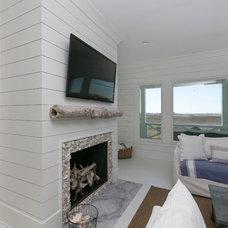 Beach Style Living Room by Sea Island Builders LLC