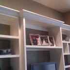 White Lacquer Entertainment Center Modern Living Room