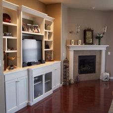 Modern Living Room by AMF Custom Works