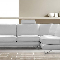 White Leather Sectional Sofa Modern Design - Features:
