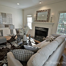Transitional Living Room by Elite Staging and Redesign, LLC