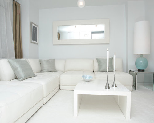 all white living room | houzz