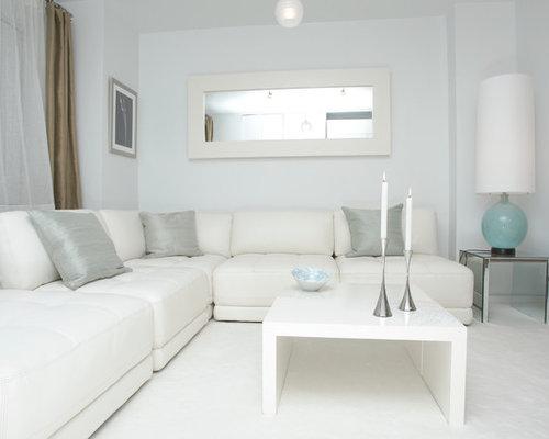 SaveEmail - White Living Room Houzz