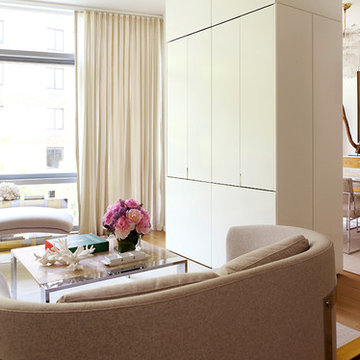 White Paneled Storage and TV Unit | The Dillon