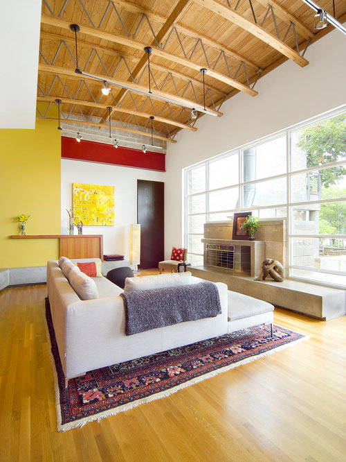 Red and yellow home design ideas pictures remodel and decor for Sejour moderne decoration