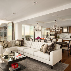 Contemporary Living Room by Moeski Design Agency