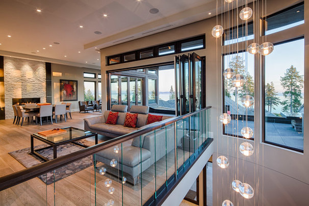 Contemporary Living Room by tdSwansburg design studio