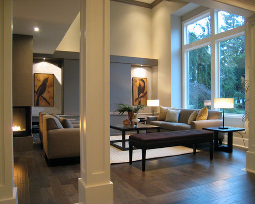 Example Of A Trendy Living Room Design In Vancouver Part 94