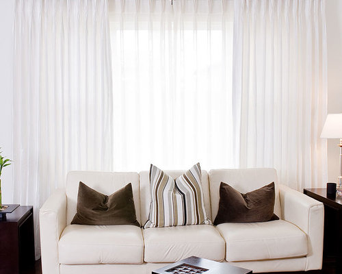 White Silk Drapes Home Design Ideas Pictures Remodel And