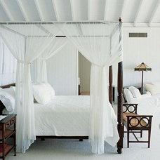 Tropical Living Room White Tropical