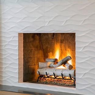 White Wavy Fireplace
