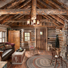 Rustic Living Room by Montana Creative architecture + design