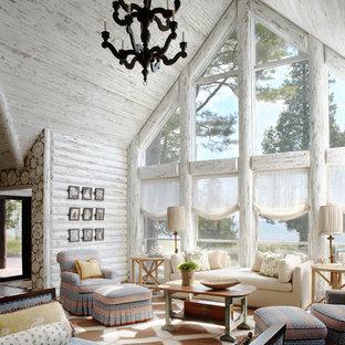 Rustic formal living room in Milwaukee.