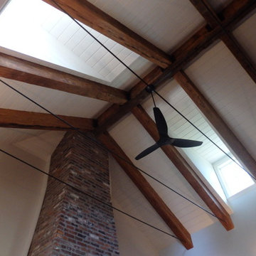 Whitewashed Vaulted Ceiling / Repainted Walls