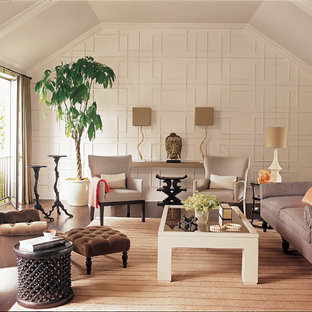 Inspiration for a transitional enclosed living room remodel in Los Angeles