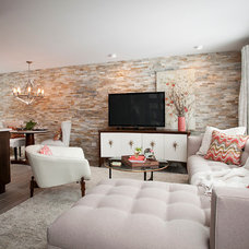 Contemporary Living Room by River Oak Cabinetry & Design