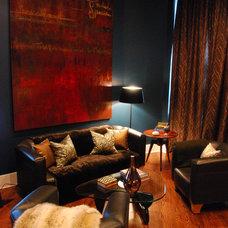 Contemporary Living Room by Nicole von Meier Design