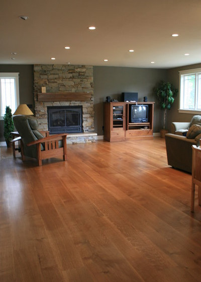 Transitional Living Room by Magnus Anderson Hardwood Floors