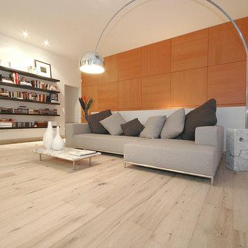 Wide-Plank Wood Floors in Living Rooms