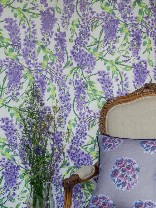 wisteria wallpaper bathroom - photo #19