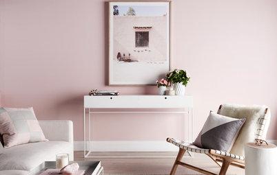 Decoración: Cómo combinar el rosa con la gama de grises en el salón