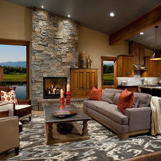 Contemporary Living Room by Hunter and Company Interior Design