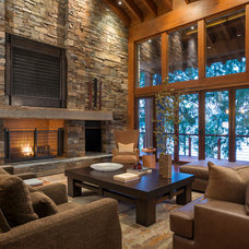 Rustic Living Room by Gregory Carmichael