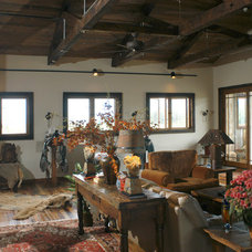 Traditional Living Room by Legends West Reclaimed Lumber