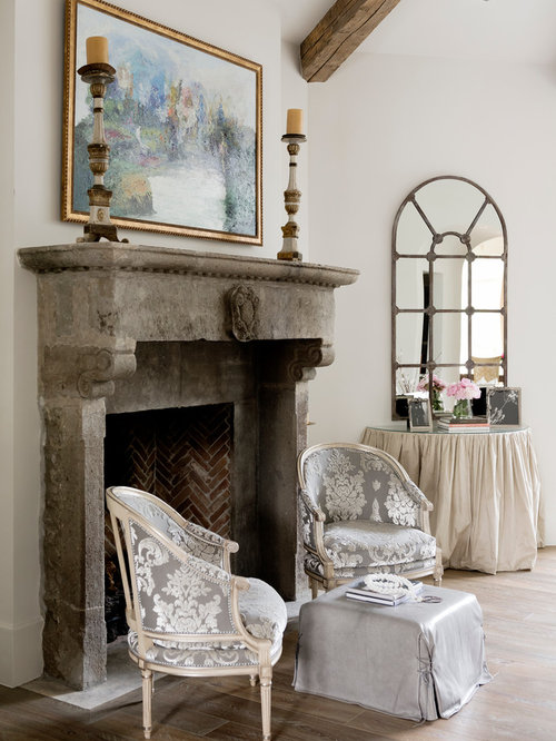 Old stone fireplace ideas pictures remodel and decor for Cheminee shabby chic