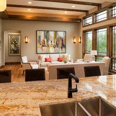Craftsman Living Room by Jim Kuiken Design