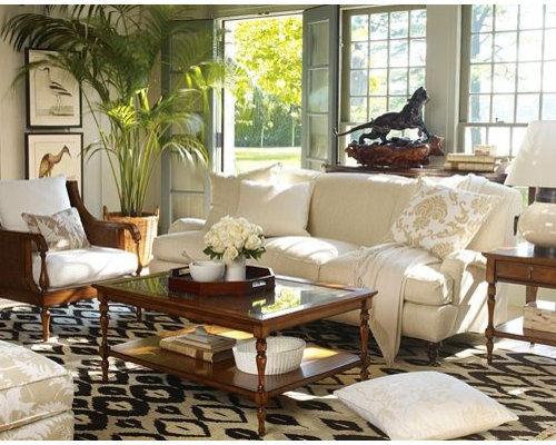 Island Style Living Room Photo In San Francisco