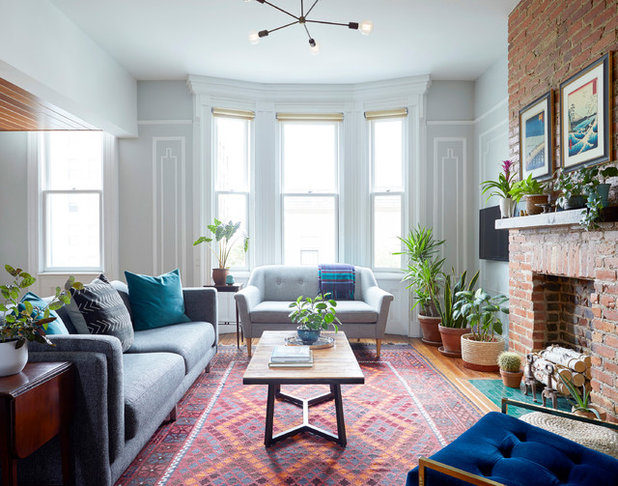 Eclectic Living Room by Linda Cava