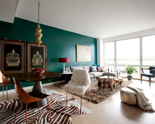 Attractive Teal Accents Living Room Design Inspirations ... Part 27