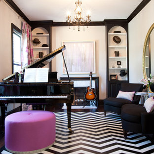 75 Most Popular Eclectic Living Room With A Music Area Design Ideas