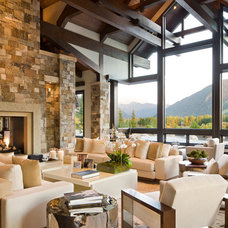 contemporary living room by Charles Cunniffe Architects Aspen