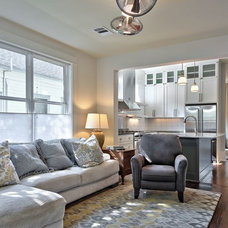 Transitional Living Room by Avenue B Development