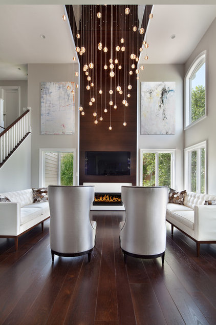 Transitional Living Room by Morgan Howarth Photography