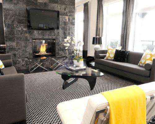 modern black living room furniture
