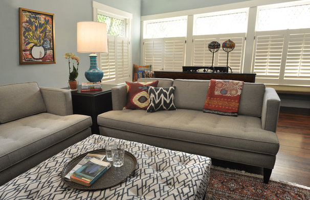Eclectic Living Room by Nicholas Moriarty Interiors