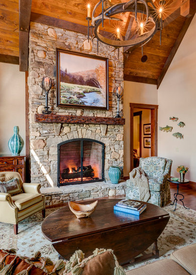 Transitional Living Room by Dianne Davant and Associates