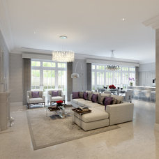 Contemporary Family Room by CID Interieur