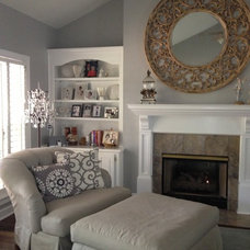 Traditional Living Room by G Design LLC