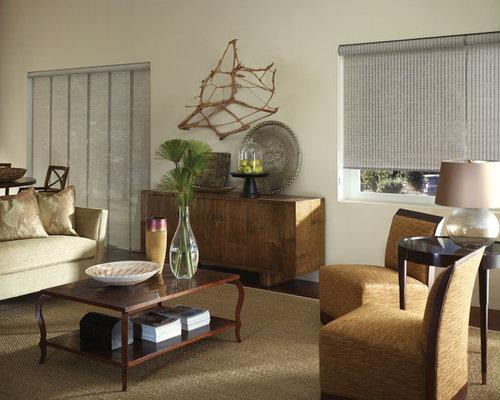 Vertical blinds houzz for Living room vertical blinds