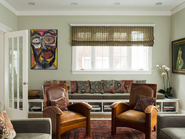 Eclectic Living Room by Andre Rothblatt Architecture