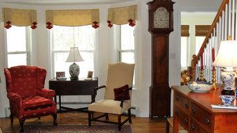 Window treatment for bay window area
