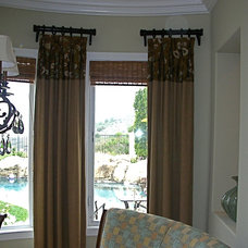Contemporary Living Room by Christopher James Window Treatments