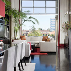 Modern Living Room by Christopher James Window Treatments
