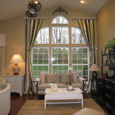 Traditional Living Room by Jere Bradwell