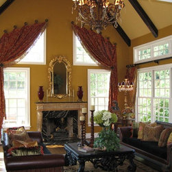 Window treatments from our custom workroom - Custom window treatments from our workroom grace this beautiful Bucks county homes great room.